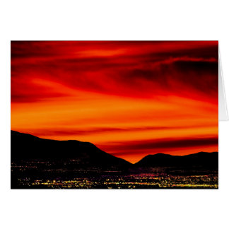 Sonnenaufgang über Sandias Grußkarte