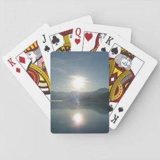 Sonnenaufgang über Uni-Fjord-Alaska-Fotografie Spielkarten