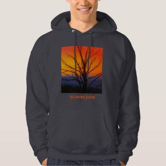 Sonnenaufgang über Yellowstone Nationalpark Hoodie