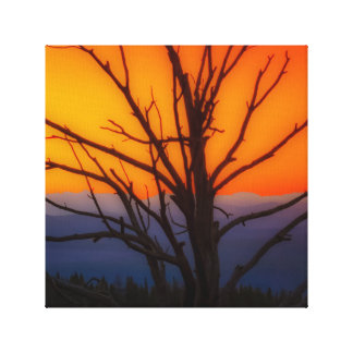 Sonnenaufgang über Yellowstone Nationalpark Leinwanddruck