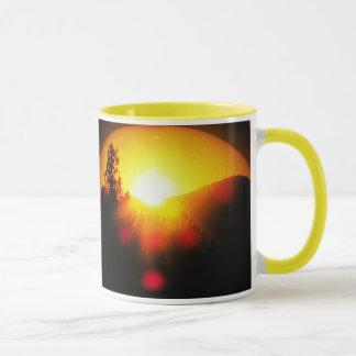 Sonnenaufgang und Glanz! mit hellem Sonnenaufgang Tasse
