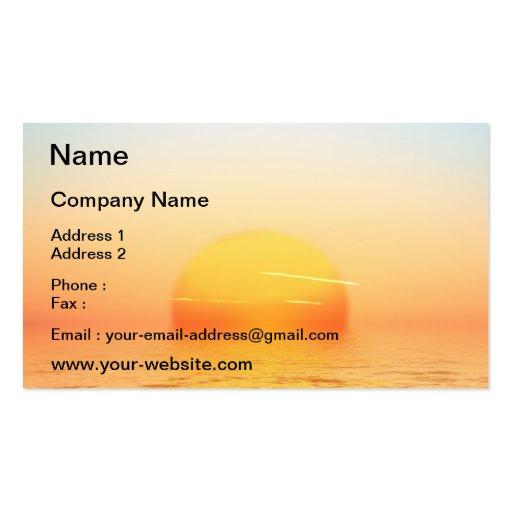 Sonnenaufgang Visitenkarten Vorlagen
