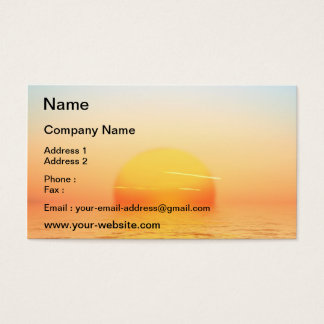 Sonnenaufgang Visitenkarten