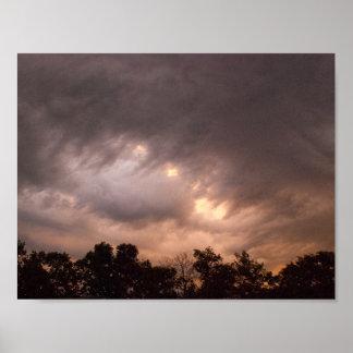 Sonnenaufgang-Wolken Poster
