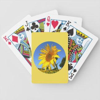 Sonnenblume 01.1.2., Feld der Sonnenblumen Bicycle Spielkarten