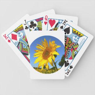 Sonnenblume 01.1., Feld der Sonnenblumen Bicycle Spielkarten