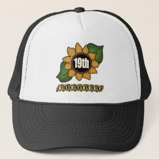 Sonnenblume-19. Geburtstags-Geschenke Truckerkappe