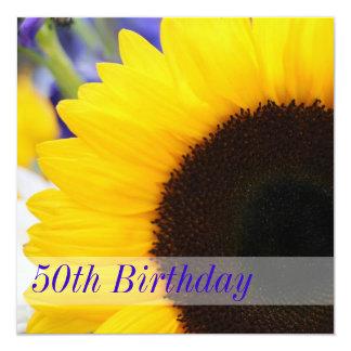 Sonnenblume-50. Geburtstags-Party Einladungen