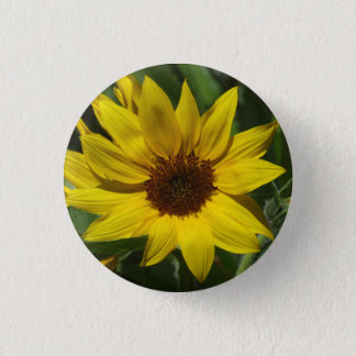 Sonnenblume-Abzeichen Runder Button 2,5 Cm