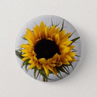 Sonnenblume-Abzeichen Runder Button 5,7 Cm