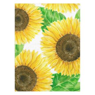 Sonnenblume-Aquarell Tischdecke