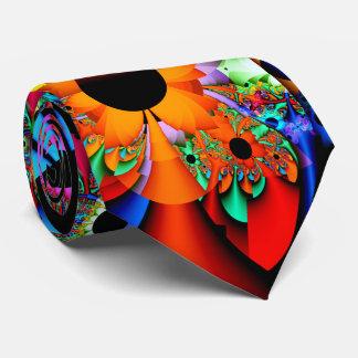 Sonnenblume-Art-Fraktal doppelseitig Krawatte