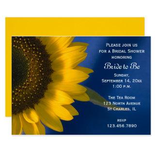 Sonnenblume Auf Blauer Brautparty Einladung Karte