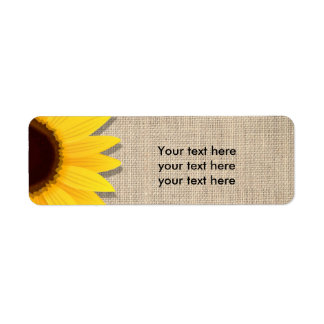 Sonnenblume auf Leinwand-rustikalen