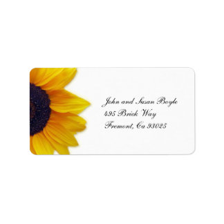 Sonnenblume-Aufkleber Adressaufkleber