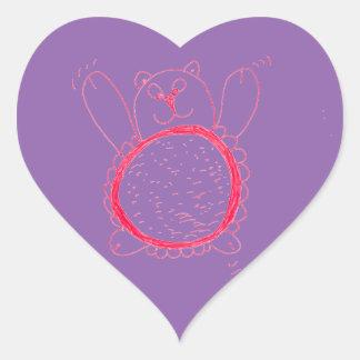 Sonnenblume-Bärn-Herz-Aufkleber Herz-Aufkleber