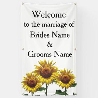 Sonnenblume-billige Hochzeit verpackt Banner