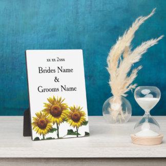 Sonnenblume-billige Hochzeit verpackt Fotoplatte
