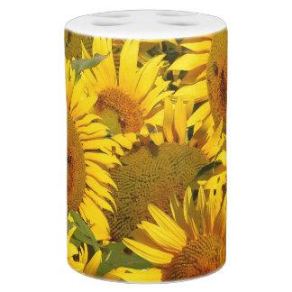 Sonnenblume-Blumen-Blumengarten-Bad-Set Badezimmer-Set