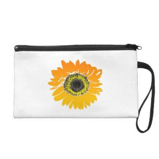Sonnenblume-Blumen-Kunst-Entwurf Wristlet