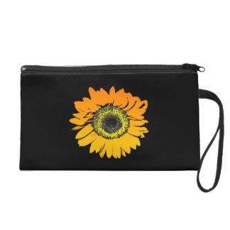 Sonnenblume-Blumen-Kunst-Entwurf Wristlet Handtasche