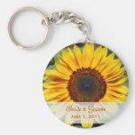 Sonnenblume-Braut u. Bräutigam Keychain Schlüsselanhänger