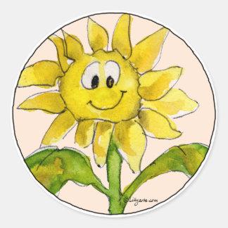 Sonnenblume Clipart Aufkleber 2