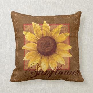 Sonnenblume-Collagen-Blumendekor-Kissen Kissen