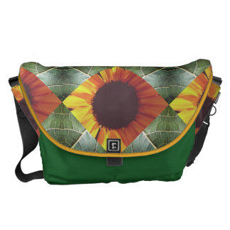Sonnenblume-Collagen-Bote-Tasche Kuriertasche