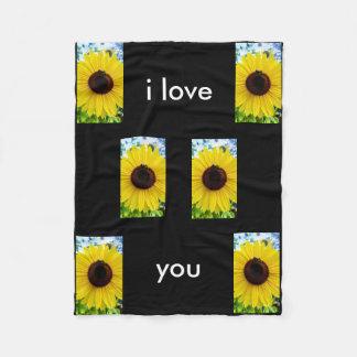 Sonnenblume-Decke Fleecedecke