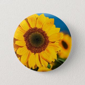 Sonnenblume der Morgen-Blumen-Garten sonnig der Runder Button 5,1 Cm