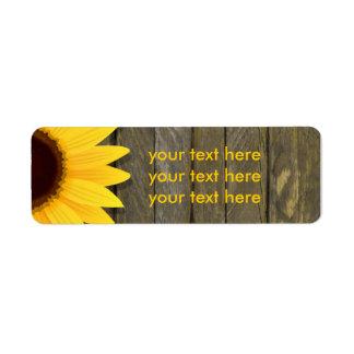 Sonnenblume-dunkle hölzerne rustikale