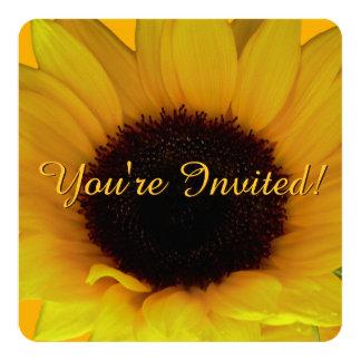 Sonnenblume-Einladung personifizieren Blume UAWG Quadratische 13,3 Cm Einladungskarte