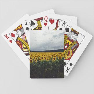 Sonnenblume-Feld-Spielkarten Spielkarten