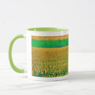 Sonnenblume-Feld Tasse