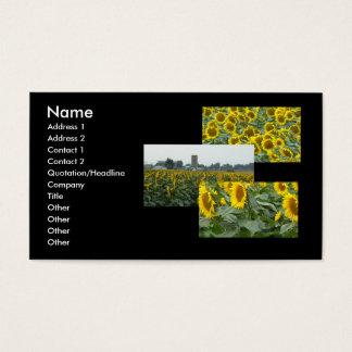 Sonnenblume-Felder für immer! Visitenkarte