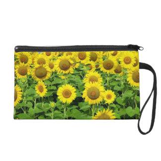 Sonnenblume-Felder Wristlet