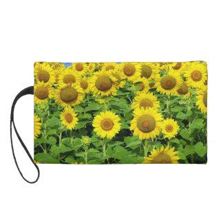 Sonnenblume-Felder Wristlet Handtasche