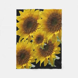 Sonnenblume-Fleecedecke für sie Fleecedecke