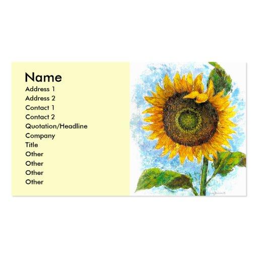 Sonnenblume-Flora-Malerei - multi Visitenkartenvorlage