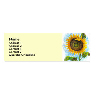 Sonnenblume-Flora-Malerei - multi Visitenkarten