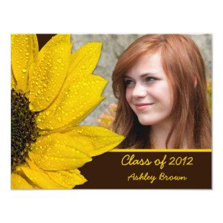 Sonnenblume-Foto-Abschluss-Einladung 10,8 X 14 Cm Einladungskarte