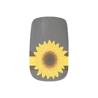 Sonnenblume-Grau Minx Nagelkunst