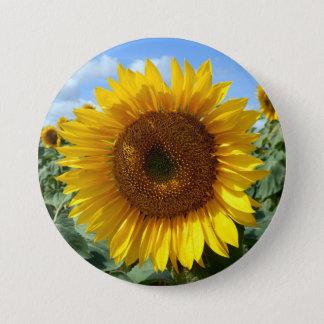 Sonnenblume-großes rundes Abzeichen Runder Button 7,6 Cm