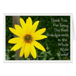 Sonnenblume-Gruß-Karte der Großeltern Tages Karte