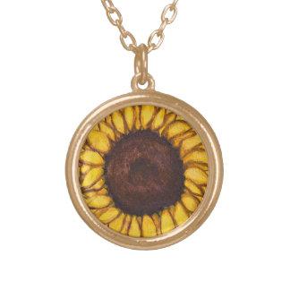 Sonnenblume-Halsketten-Blumen-Kunst-Geschenk-Blume Vergoldete Kette