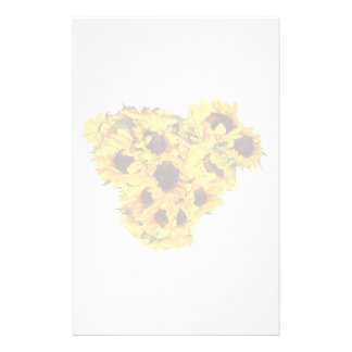 Sonnenblume-Herz Briefpapier