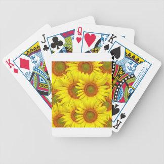 Sonnenblume-Hintergrund Bicycle Spielkarten