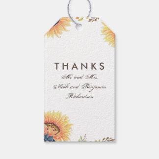Sonnenblume-Hochzeit im Herbst Geschenkanhänger