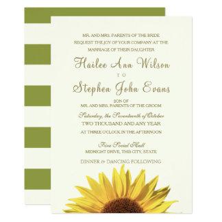 Sonnenblume-Hochzeit Karte